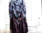 Skirt,long skirt, noire, goth, fusion, vampire, steampunk, victorian, ruffle skirt, layered, women, vintage style, long skirt, dark, women