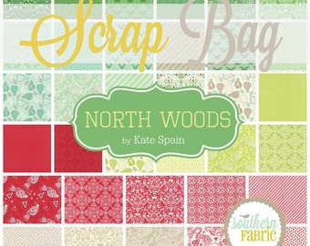 North Woods by Kate Spain for Moda Scrap Bag Quilt Fabric Strips Remnants