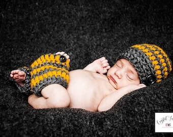 Baby Boy Coming Home  Outfit_ Baby Boy Stripe Hat and Leg Warmers_Newborn Baby Hospital Outfit _Newborn Baby Photo Props