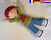 Crochet pattern for doll JOSH (Deutsch, English, Français, Nederlands)