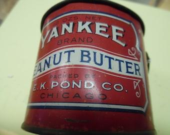 Yankee Peanut butter pail, vintage peanut butter, peanut butter pail, ADVO peanut butter,