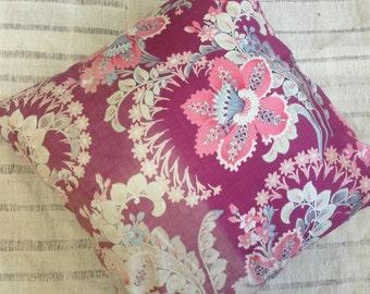 """Unique Antique Uzbek Roller Print Pillow / 20x20"""" / 50x50cm"""