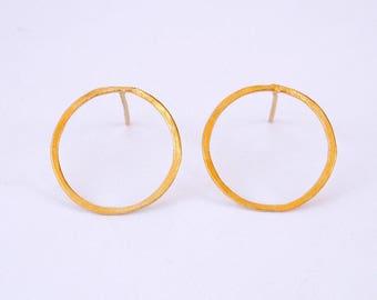 Big circle earrings, open circle earrings, gold earrings, simple circle earrings, geometric earrings, hoop earrings