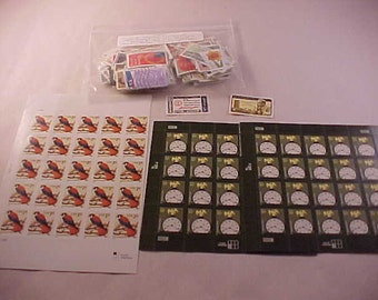 US Postage Stamps Unused Sheets and Postmarked Commemoratives