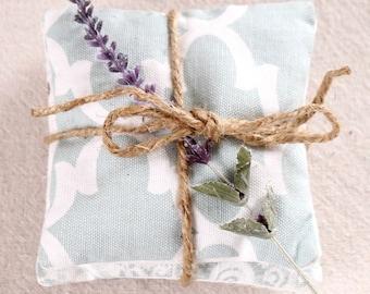 Blue Drawer Sachets - Lavender Sachet Set - Blue Quatrefoil - Blue Paisley - Blue Green - Lavender Scent - Hostess Gift