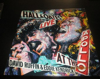 Hall and Oates vinyl - With David Ruffin at the Apollo - Lp in VG++ Condition