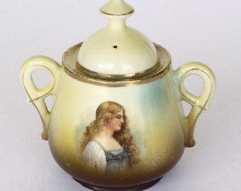 Vintage Victoria Austria Sugar Bowl