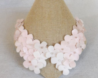 Shades of Pink Flower Collar Necklace