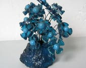 Vintage Retro resin flowers Blue ice by Colorflow