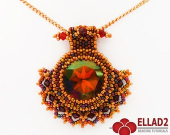 Tutorial Inca Pendant - Beading pattern, Pendant patterns, Design by Ellad2