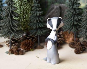 American Badger Figurine by Bonjour Poupette