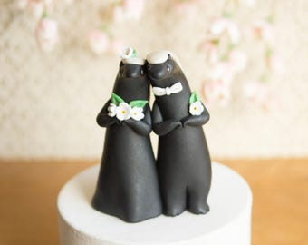 Honey Badger Wedding Cake Topper by Bonjour Poupette