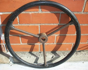 Implement Stering Wheel--Industral--Collectible--Vintage