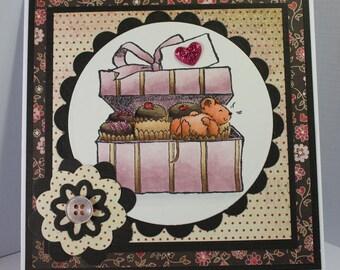 Handmade Greeting Card Valentine Mouse