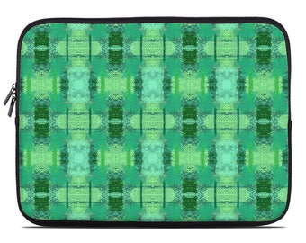 Green laptop sleeve, green laptop case,laptop cover, to fit 10, 13, 15, 17 inch