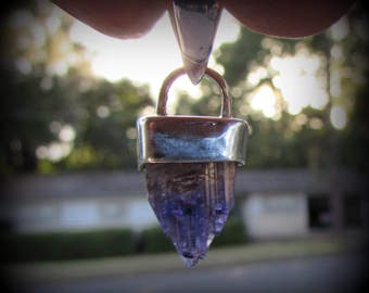 Tanzanite Crystal in Sterling Silver Pendant