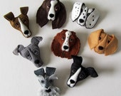 Personalised handmade felt dog Brooch or keyring