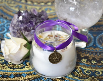 SAGITTARIUS Jupiter Zodiac Astrological Soy Candle Essential Oils Herbs Crystal Magick