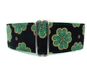 St. Patricks Martingale Collar, Celtic Dog Collar, Celtic Martingale Collar, Green Martingale Collar, 2 Inch Martingale Collar, St Paddys