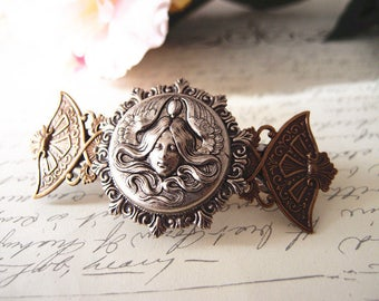 Earth Mother-aged brass-Victorian-bridal-medieval-shabby chic-steampunk-mythology V007