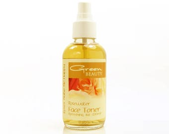 Face Toner with Rosewater, 4oz, use the alcohol free rosewater face toner to tighten skin or as a refreshing, moisturizing toning spritz
