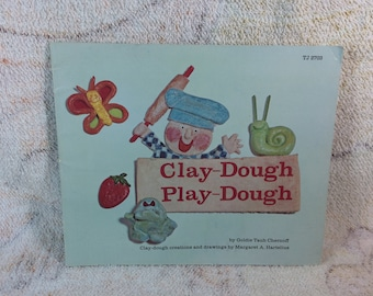 Vintage 1974 Clay-Dough Play-Dough Scholastic Childrens Clay Craft Book Goldie Taib Chernoff