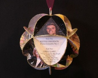 Emerson Lake & Palmer ELP Album Cover Ornament Made Of Record Jackets