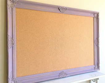 purple framed cork board graduation gift spring wall decor girls room tack board pinboard office desk organizer lavender bulletin board