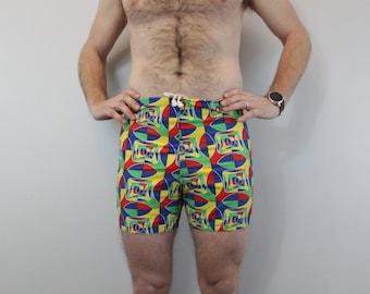 Vintage 1960s  Mens Swim Trunks psychedelic