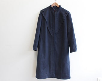 Vintage 80s Navy Peacoat by Britanny Originals