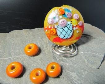 Handmade lampwork bead - Kitchen Posy Vase