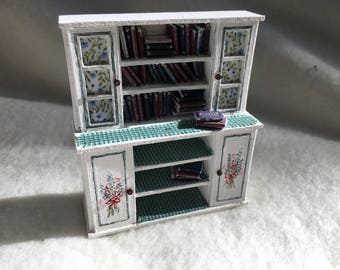Dolls House Luxury Hand Painted 1/24th Dresser Cupboard with books - NEW SPRING 2017