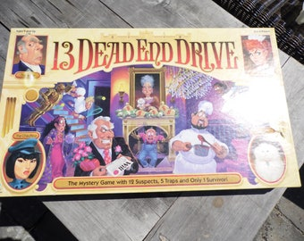 13 Dead End Drive vintage 1993  Milton Bradley Game family game night house family fun COMPLETE game ready to play