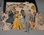 Huge Lot of Vintage Magazine and Newspaper Paper Dolls and clothes 1920s snippets , cut outs