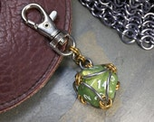 d20 Polyhedral Dice Chainmaille Keychain Color Selection D&D Tabletop Gamer RPG Gift