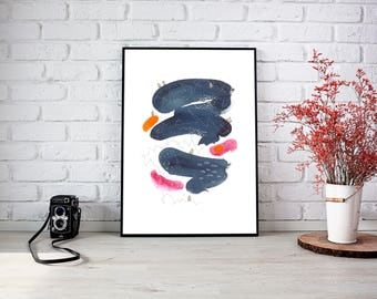 Giclee print of ABSTRACT PAINTING - Maps No.8 - Fine Art Print
