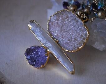 THE RAVEN NECKLACE /// Electroformed Gemstone Statement Necklace
