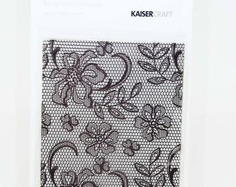 KaiserCraft Background Collection Clear Stamps -- Acrylic -- Lace