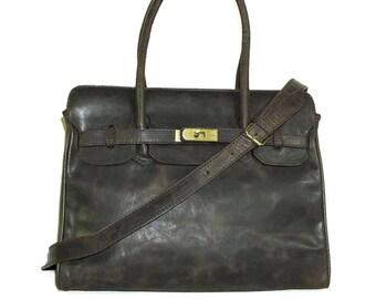 Leather Bag, Leather Handbag, Leather Crossbody Bag, Leather Purse, Leather Messenger, Leather bag, Leather Tote, Ilita, Vintage Dark Brown