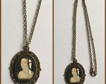 Anne Boleyn Inspired Cameo Necklace