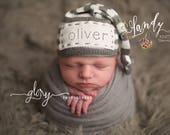 Name hat, newborn photo prop, photo prop, photo props, photo props newborn, photo props boy, photo props girl, personalized baby hat, name