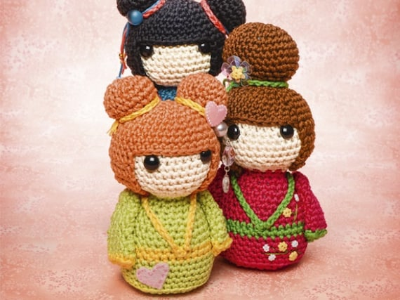 Amigurumi Free Patterns Geisha : Geisha girls amigurumi crochet pattern