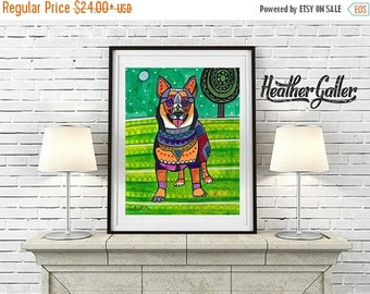 50% Off Today- Swedish Vallhund  Art Print Poster by Heather Galler (HG861)
