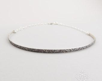 Trendy Choker Necklace – Boho Choker – Silver Choker – Minimal Silver Necklace – Sterling Silver Choker – Minimal Jewelry – Patterned Choker