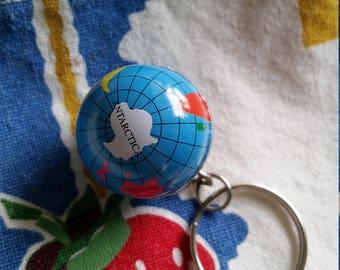 tiny globe key chain