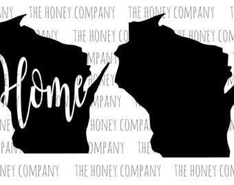 Wisconsin State Home Silhouette PNG SVG DXF Instant Download File