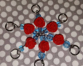 Rose Bead Stitch Markers