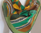 "Vera Neumann // Ladybug Green Soft Silk Scarf  // 29"" Inch 74cm Square // Best of the Best"