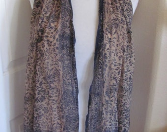 "Beautiful Brown Black Sheer Soft Scarf - 15"" x 60"" Long"