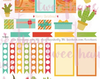 Southwest Style Christmas Printable Planner Stickers